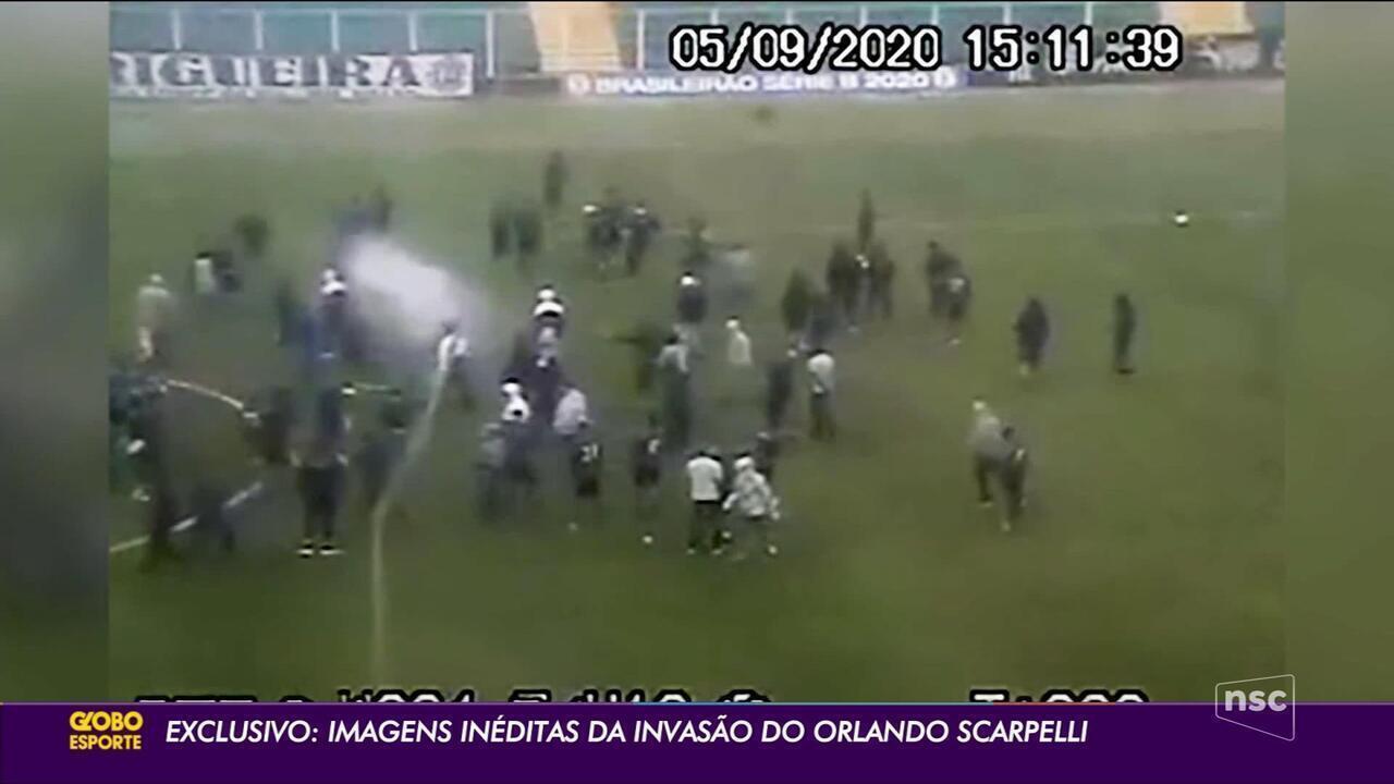 Imagens inéditas da invasão ao treino do Figueirense