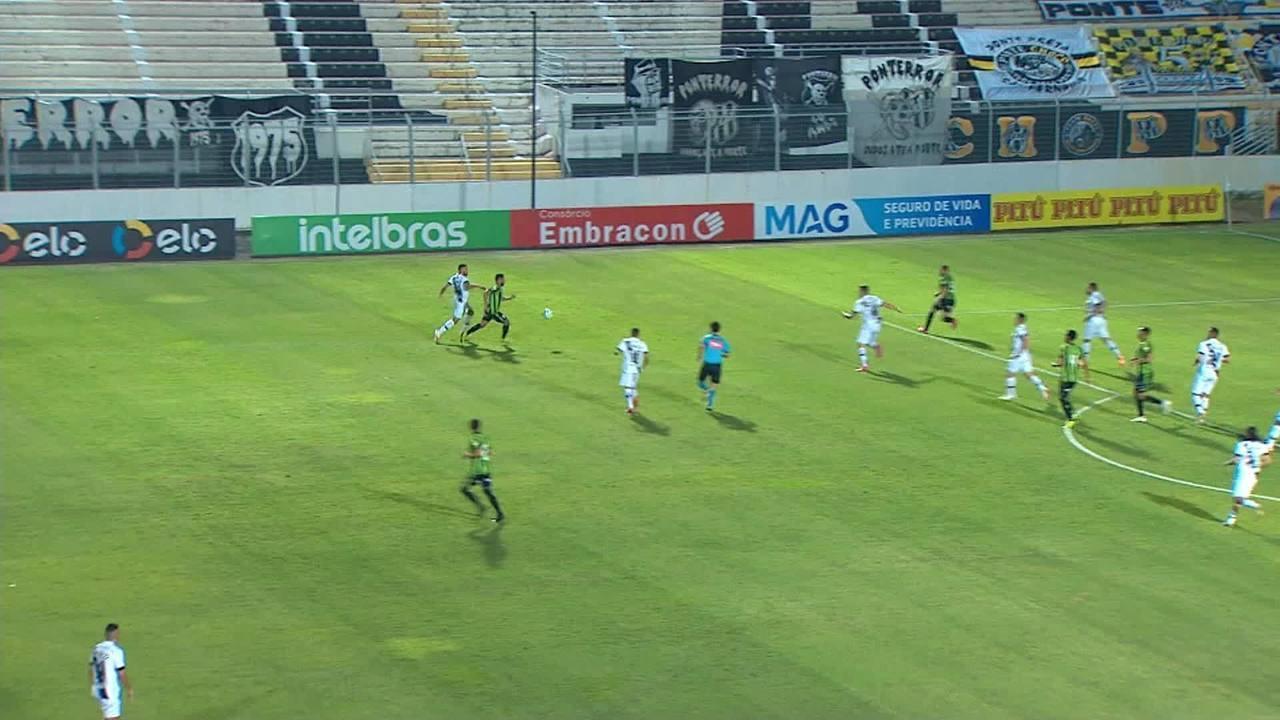 Melhores momentos de Ponte Preta 2x2 América-MG pela Copa do Brasil