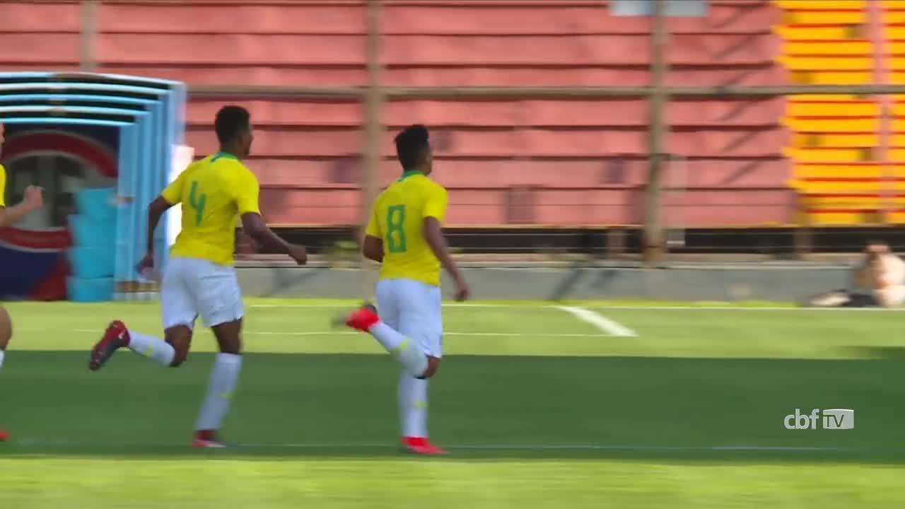 Gabriel Menino faz golaço pela Seleção sub-20