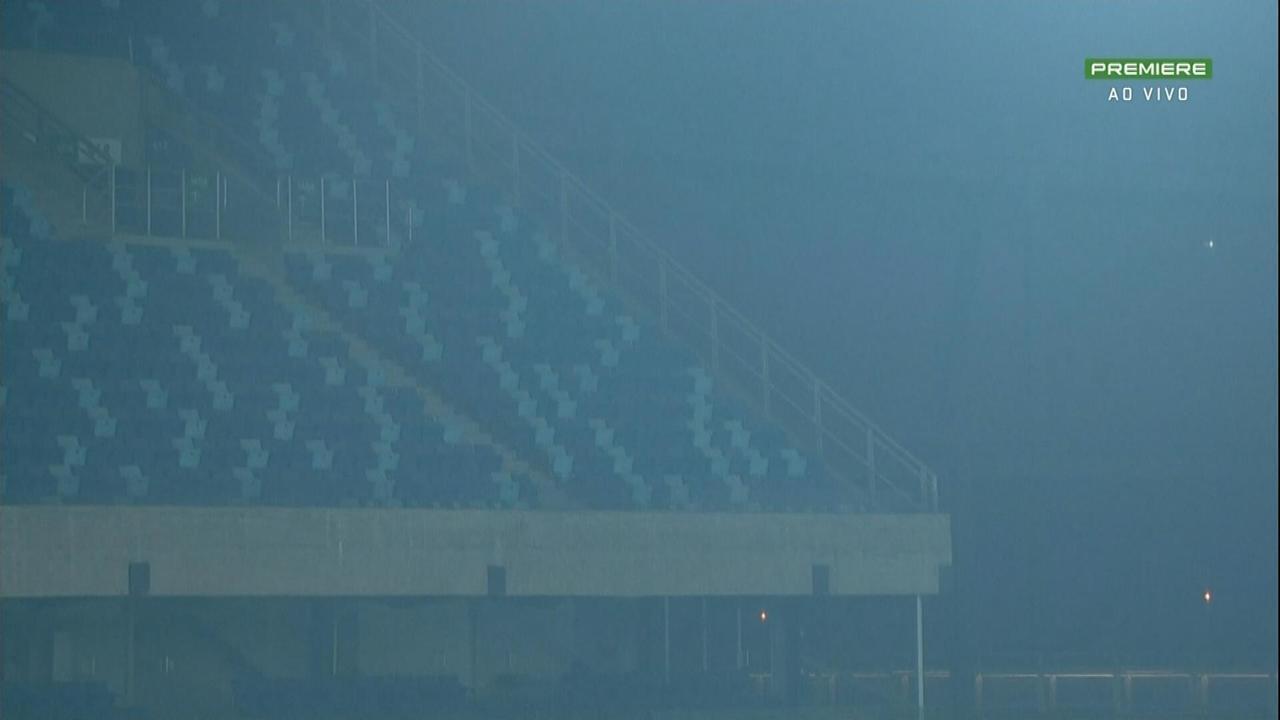 Fumaça de queimadas no Pantanal é visível em jogo do Cuiabá na Série B