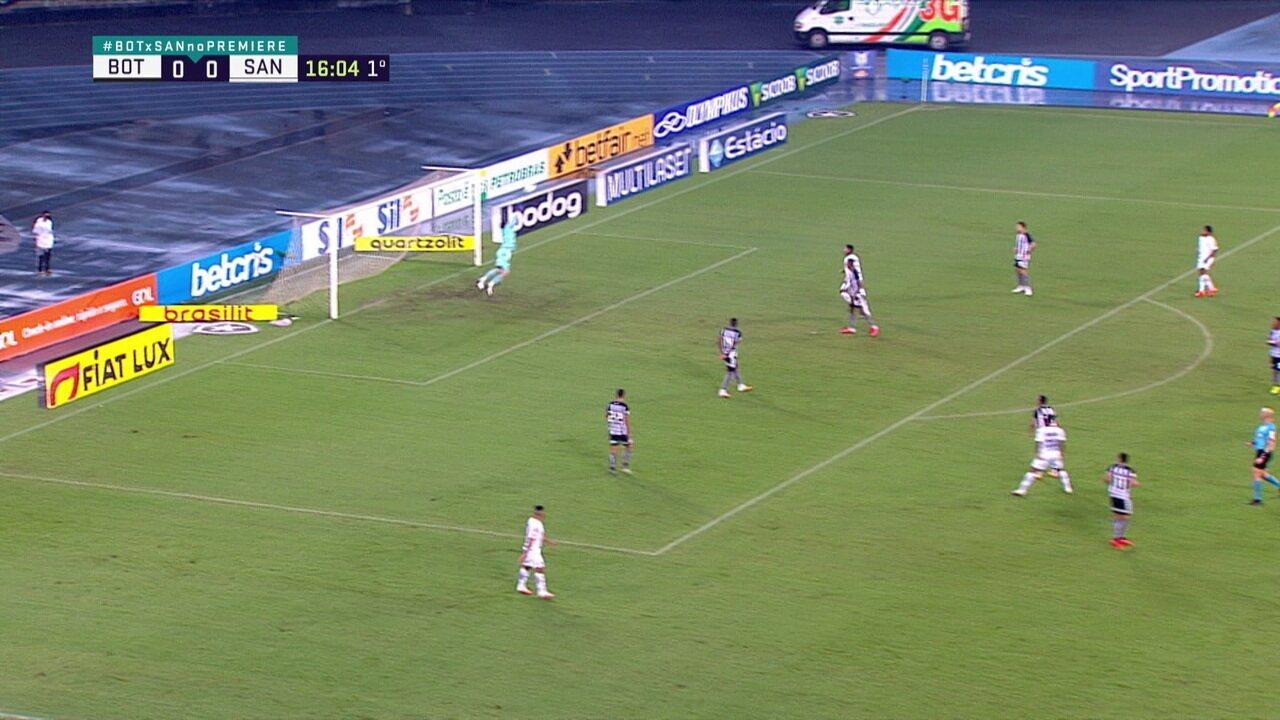 Melhores momentos de Botafogo 0 x 0 Santos pela 11ª rodada do Campeonato Brasileiro