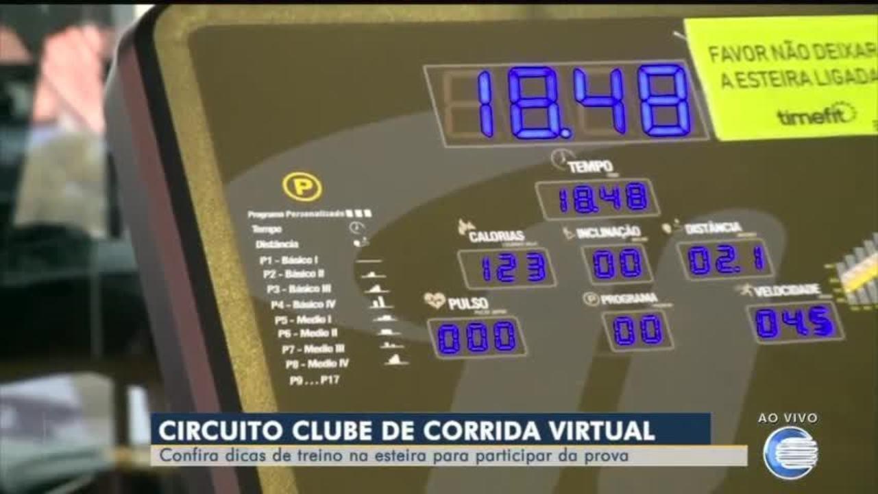 Confira dicas de treino na esteira para participar do Circuito Clube de Corrida Virtual