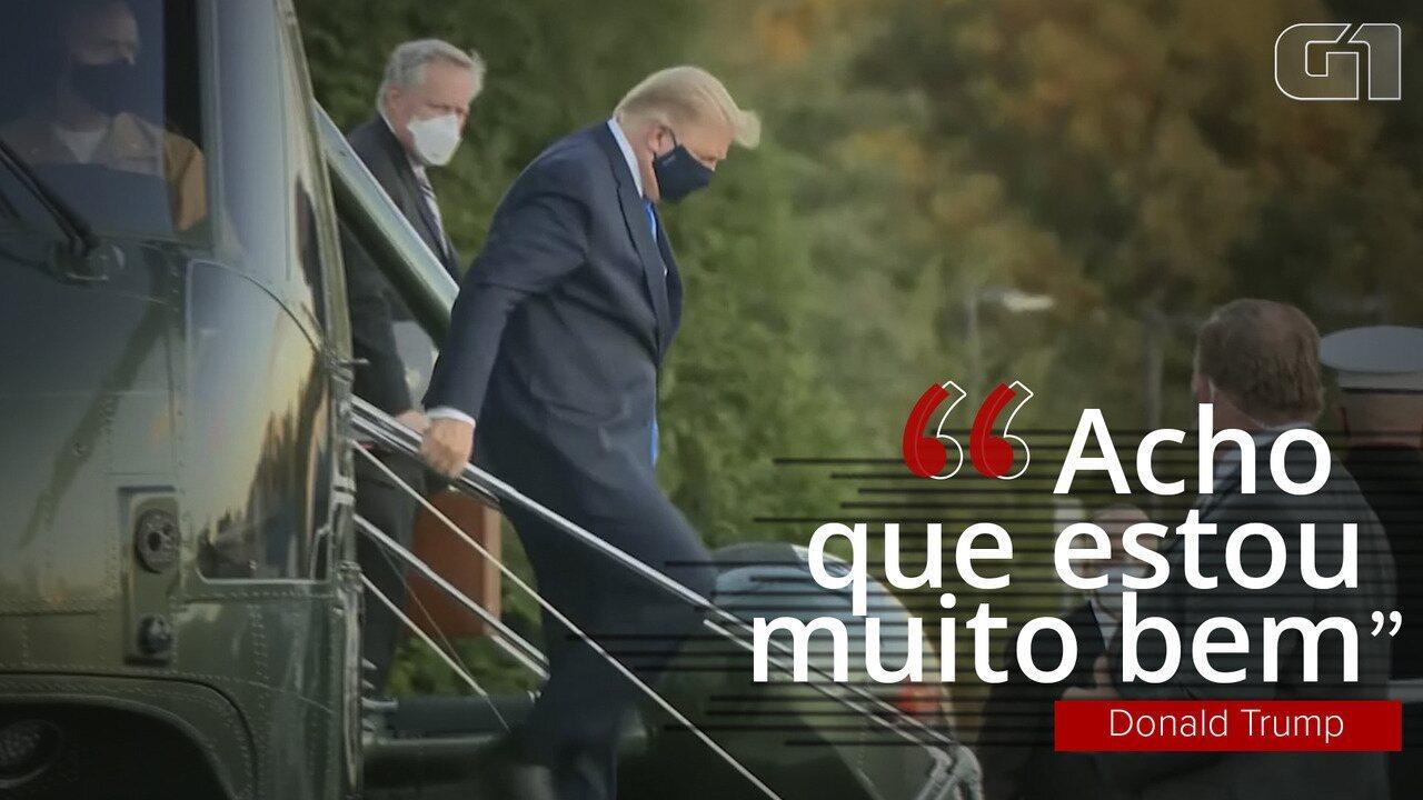 Veja: Trump vai para hospital após diagnóstico de Covid-19