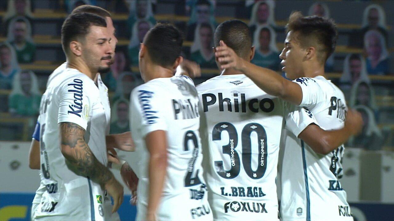 Os gols de Goiás 2 x 3 Santos pela 13ª rodada do Brasileirão 2020