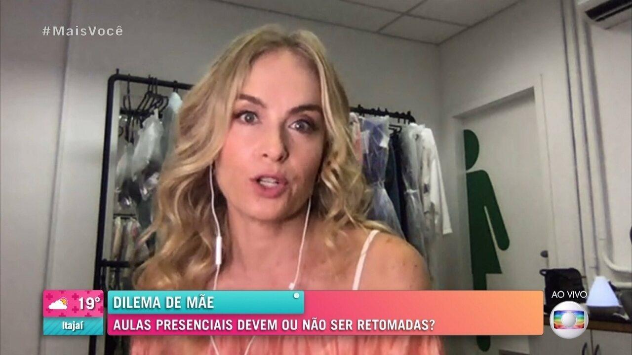 Angélica confessa cansaço para acompanhar aulas on-line da filha caçula