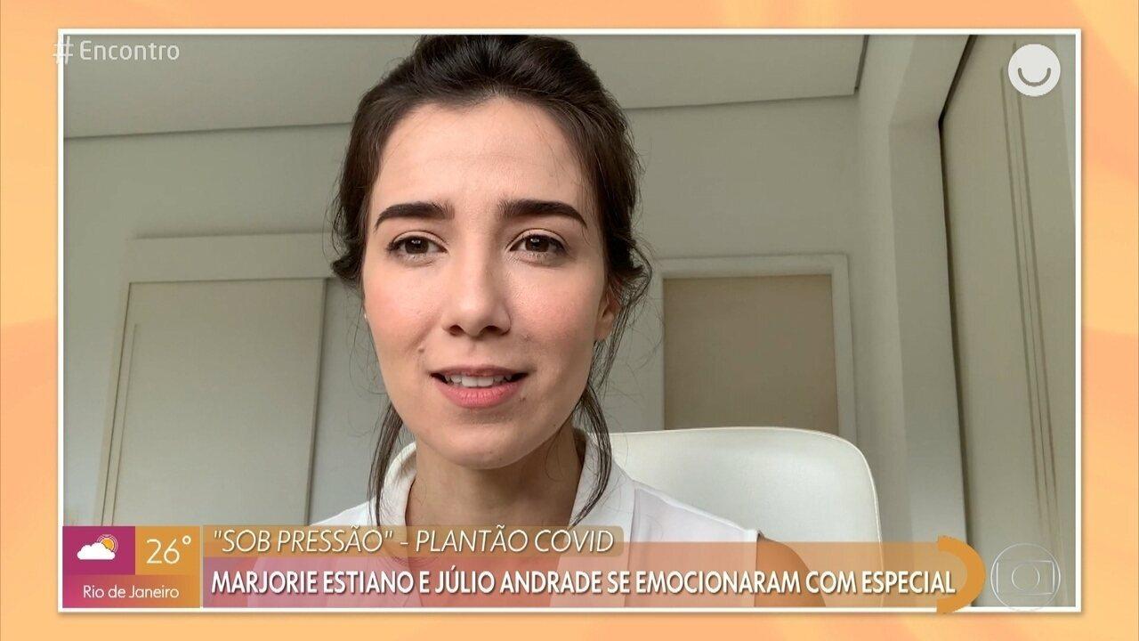 Marjorie Estiano e Julio Andrade celebram sucesso de 'Sob Pressão - Plantão Covid'