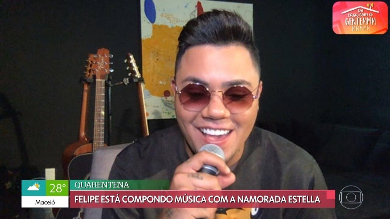 Felipe Araújo tem saudades de fazer shows