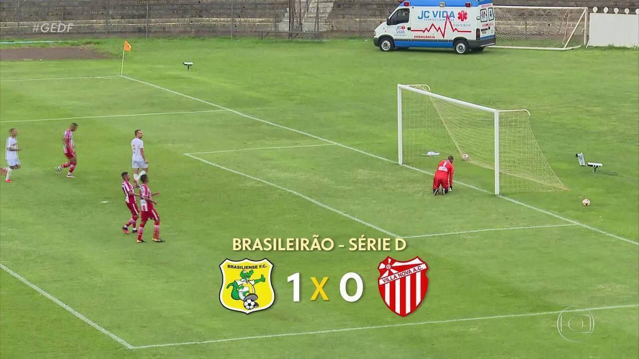 Brasiliense bate o Villa Nova e assume vice-liderança do Grupo 6 da Série D