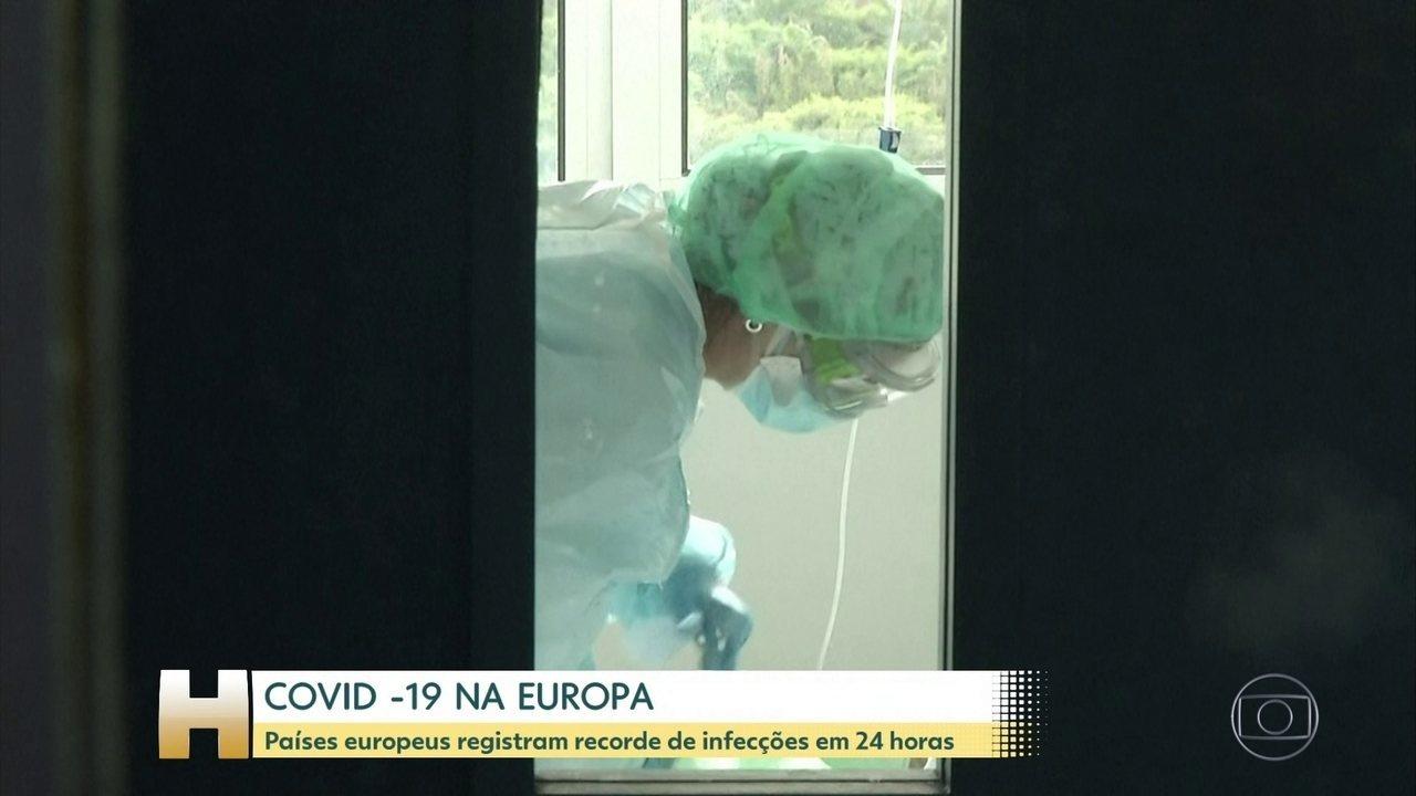 COVID-19 avança na Europa com uma série de recordes diários