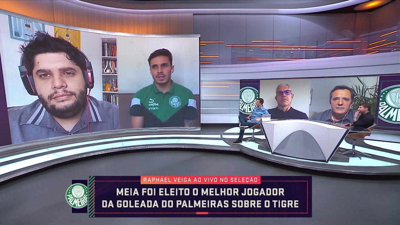 Raphael Veiga fala sobre ambiente do Palmeiras a espera do novo treinador