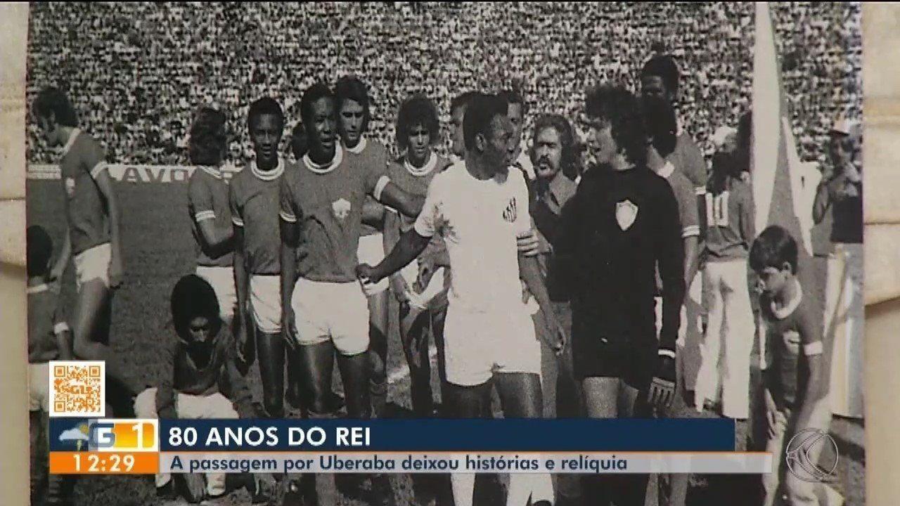 Pelé 80 anos: Passagem do Rei do futebol por Uberaba deixa história e relíquias