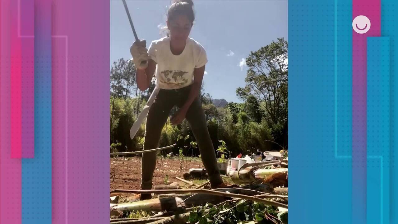 Bela Gil conta como transformou campo de futebol em agrofloresta