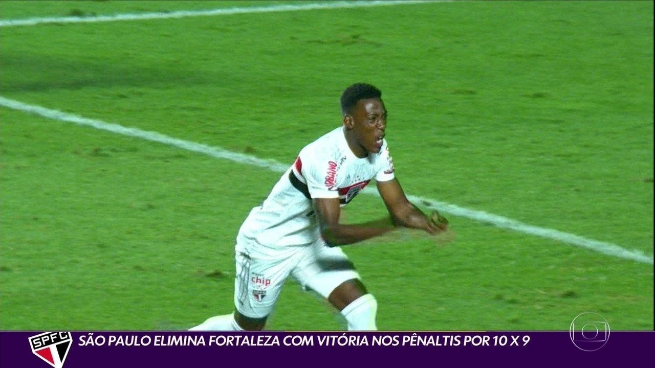 São Paulo elimina Fortaleza com vitória nos pênaltis por 10 x 9