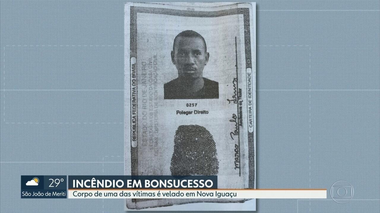 Família vela corpo de Marco Paulo, morto depois do incêndio no hospital de Bonsucesso