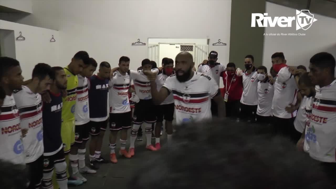 """Bastidores do River-PI após vitória por 2 a 1 têm fé e mensagem: """"Time campeão"""""""