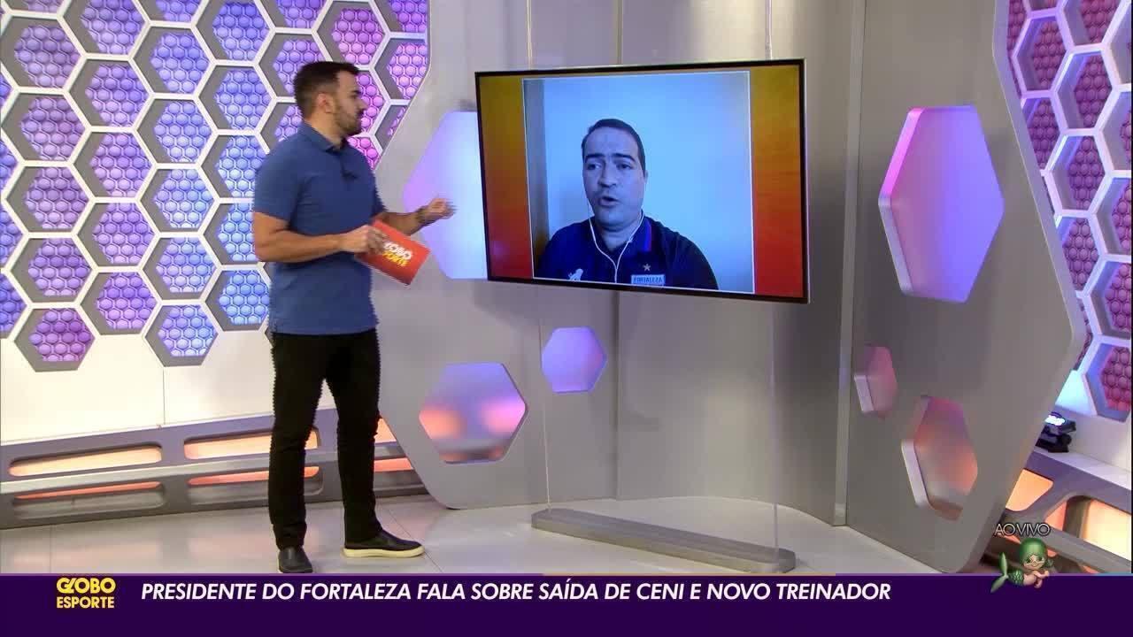 Presidente do Fortaleza afirma que recebeu pedido de desculpa de Rodolfo Landim por Ceni
