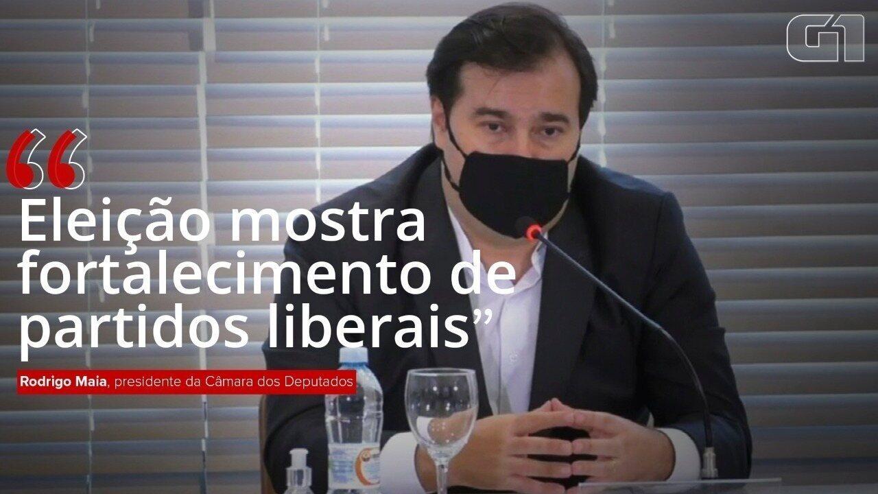 Maia diz que eleições mostram fortalecimento de partidos liberais e de diálogo