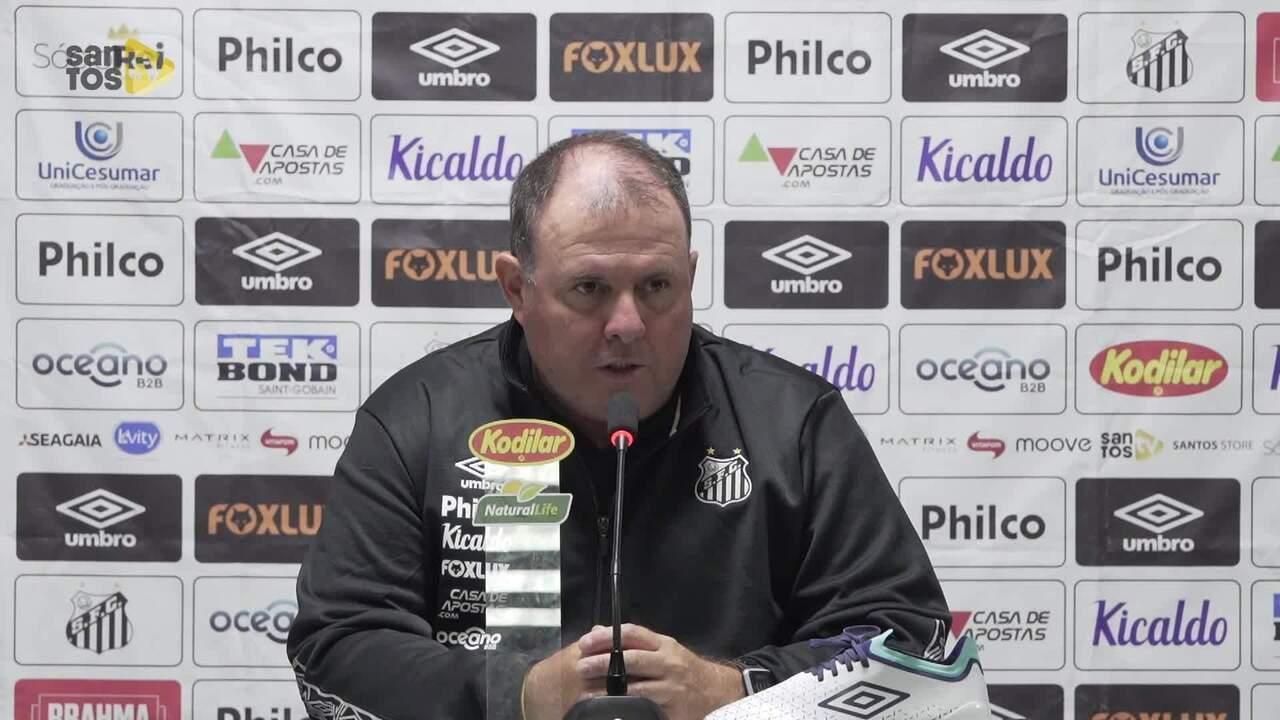 Veja a coletiva de Marcelo Fernandes, do Santos, após a derrota para o Athletico-PR
