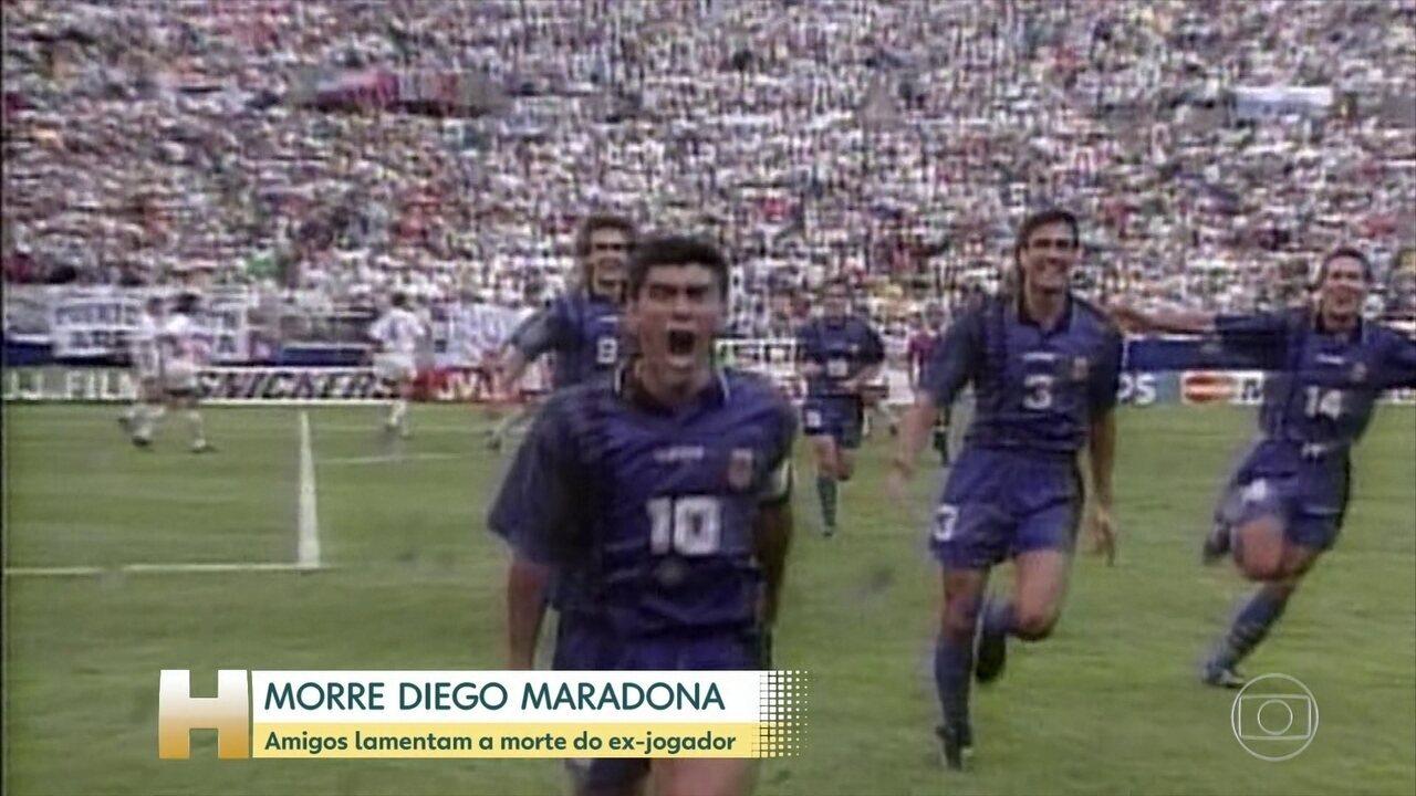 Galvão Bueno destaca lances geniais de Diego Maradona