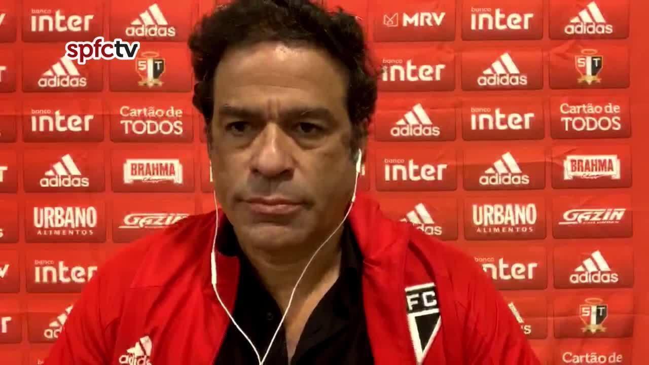 Veja a coletiva de Raí, dirigente do São Paulo, após o empate com o Ceará, pelo Brasileiro