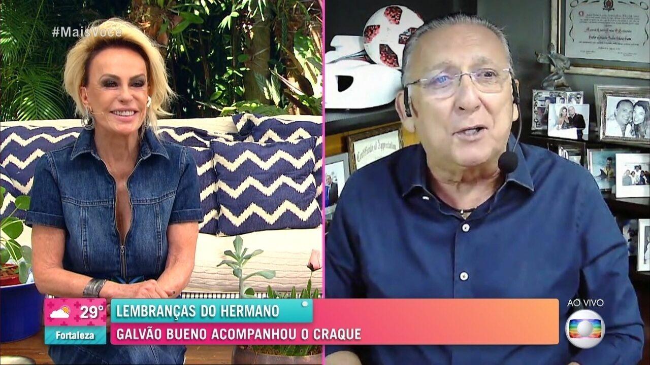 Adeus a Maradona: Galvão Bueno acompanhou e narrou jogos do craque