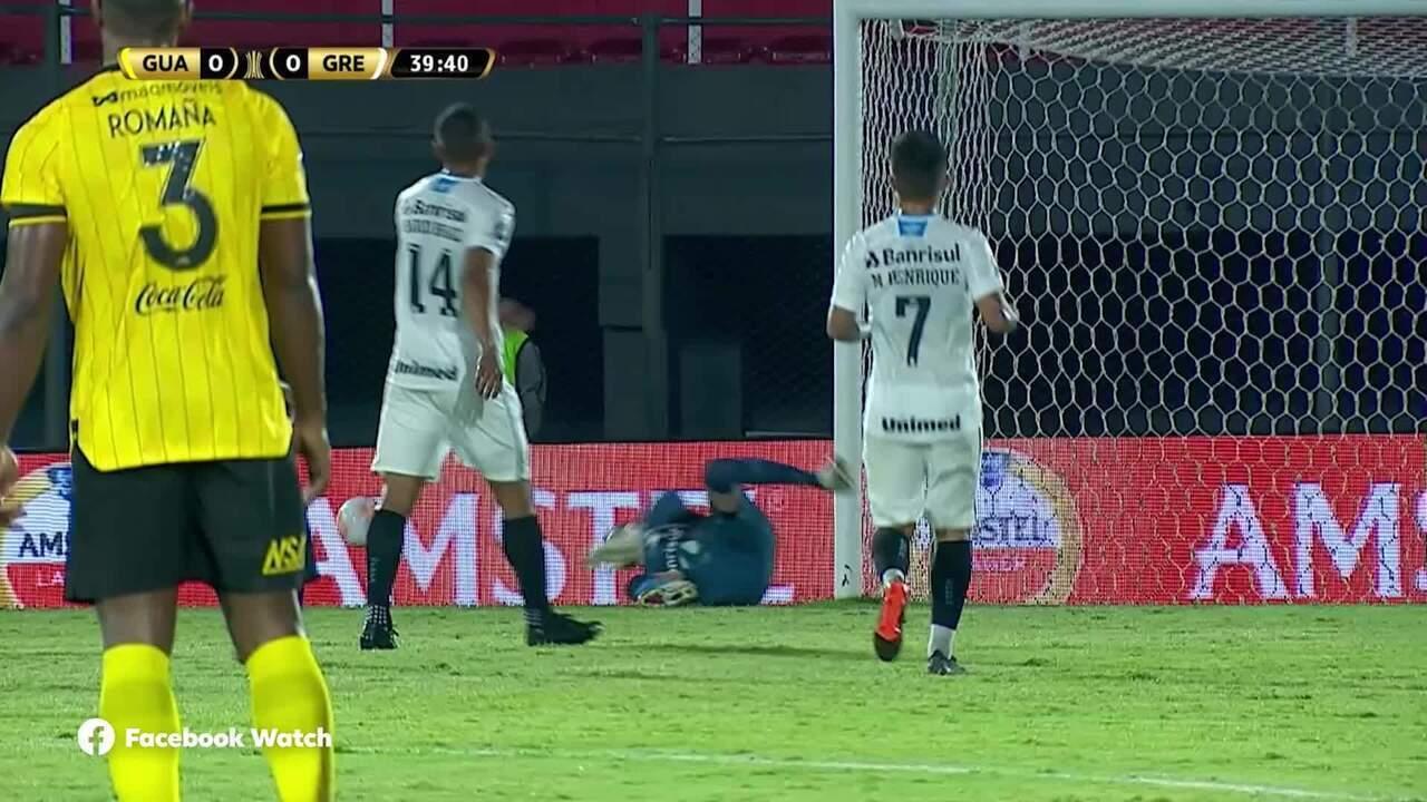 Melhores momentos de Guaraní-PAR 0 x 2 Grêmio pelas oitavas de final da Libertadores