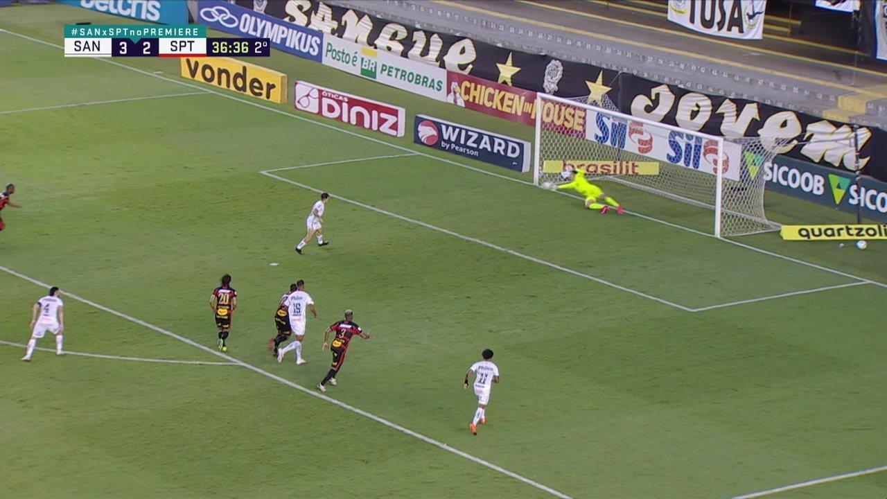 Melhores momentos de Santos 3 x 2 Sport pela 23ª rodada do Campeonato Brasileiro