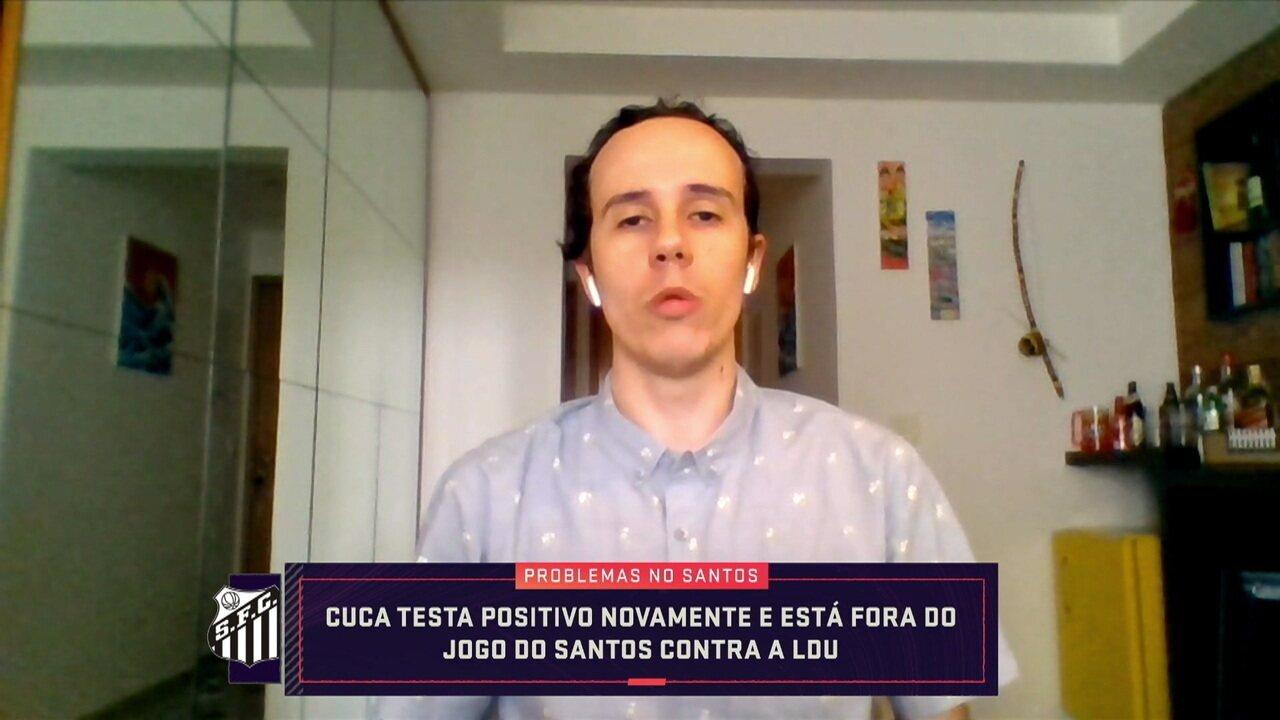 Bruno Giufrida fala sobre a situação do Cuca, que testou positivo para a covid mais uma vez