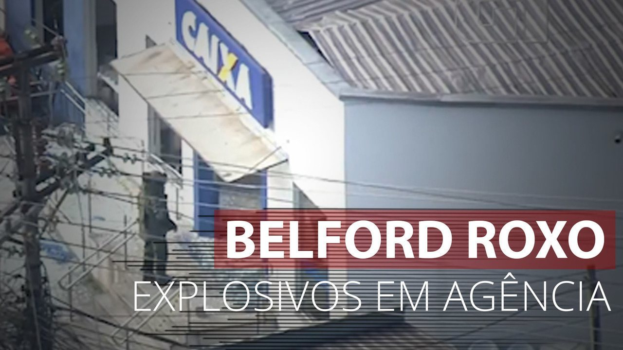 Agente do Esquadrão Antibombas entra em agência bancária atacada em Belford Roxo