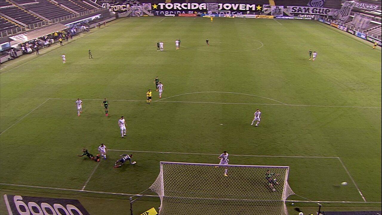 Melhores momentos: Santos 2 x 2 Palmeiras pela 24ª rodada do Brasileirão