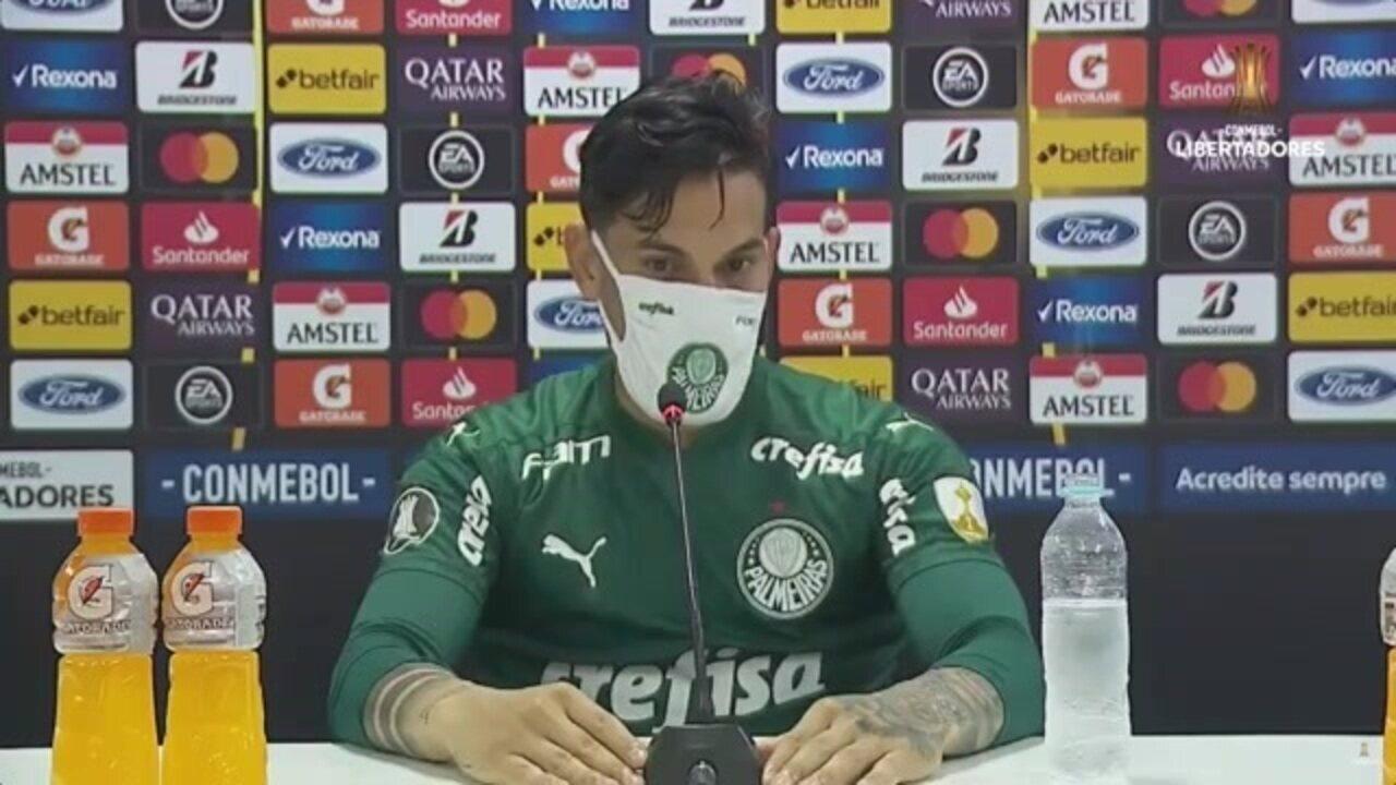 Veja a entrevista de Gustavo Gómez, do Palmeiras, após o empate com o Libertad