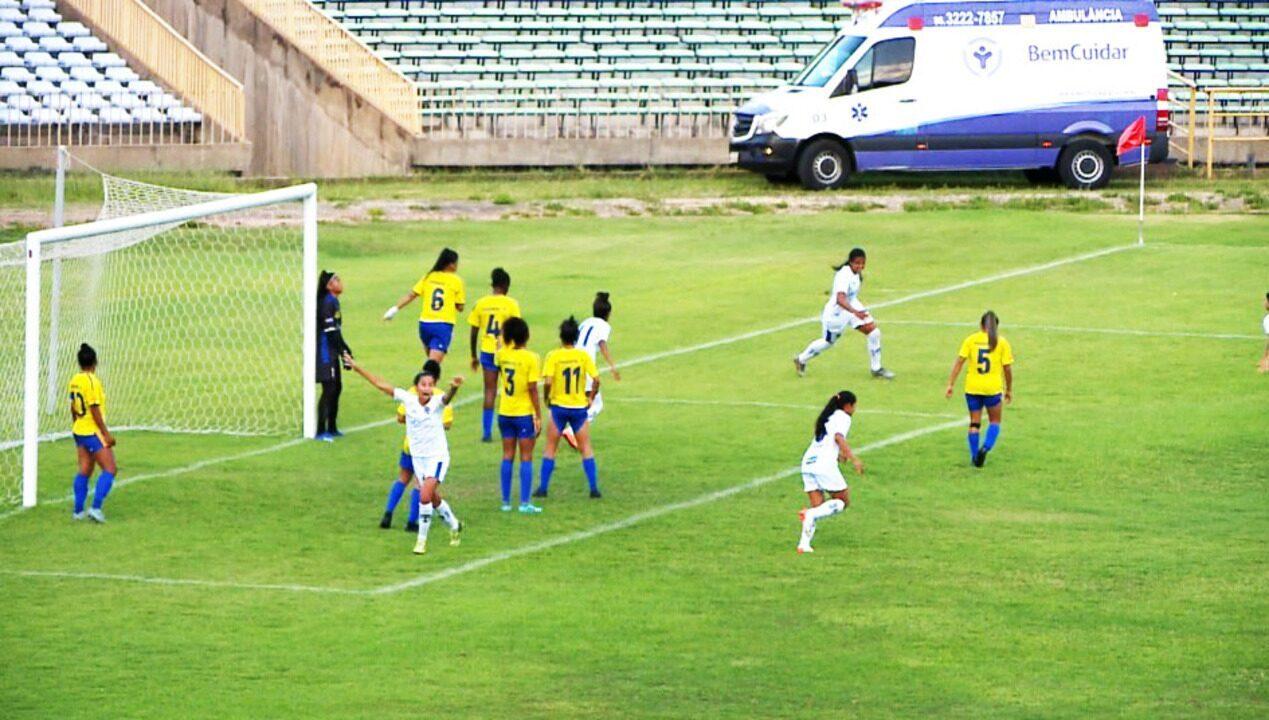 O gol de Tiradentes 0 x 1 Real Brasília pelas quartas de final da Série A2 do Brasileiro