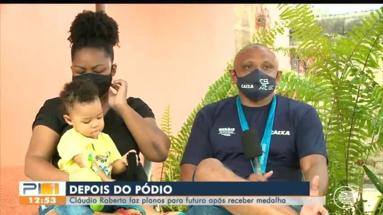 Piauiense Cláudio Roberto faz planos para o futuro após receber medalha