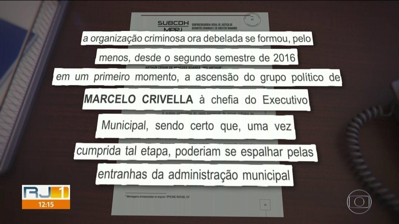 Esquema de corrupção começou antes de Crivella se tornar prefeito, diz MP