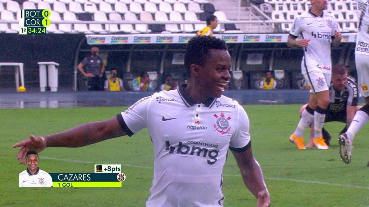 Relembre gol de Cazares pelo Corinthians contra o Botafogo