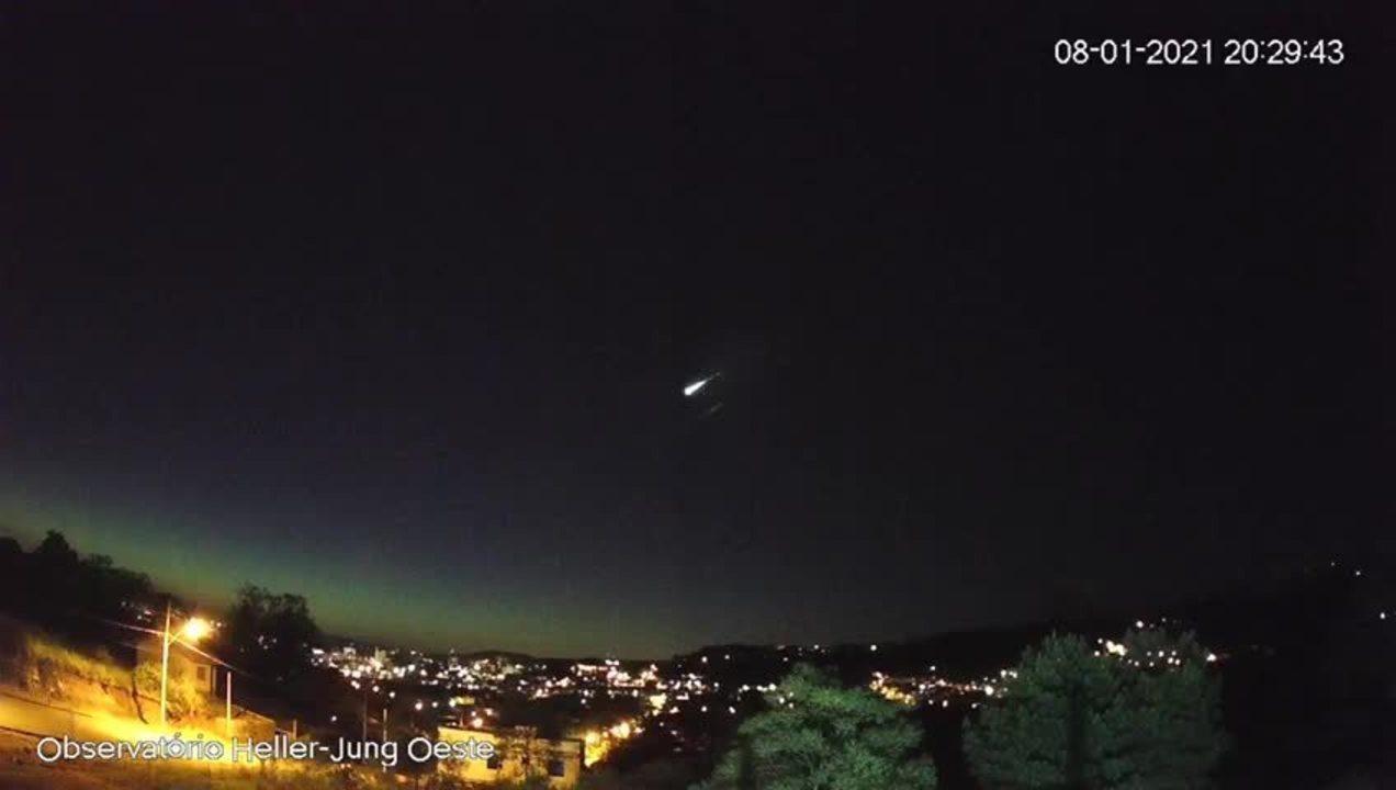 Observatório de Taquara registra meteoro de alta magnitude no céu do RS
