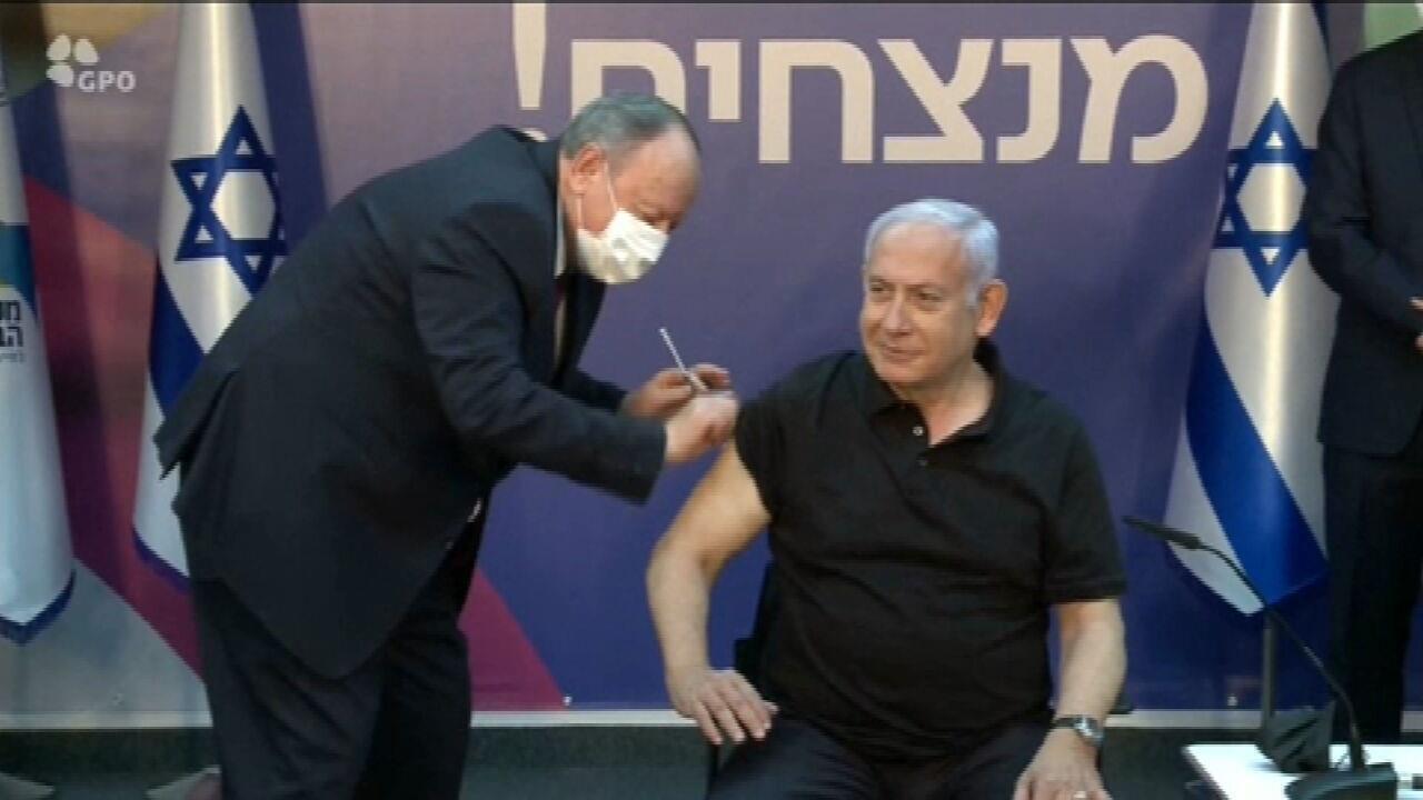 Netanyahu recebe segunda dose da vacina Pfizer/BioNTech