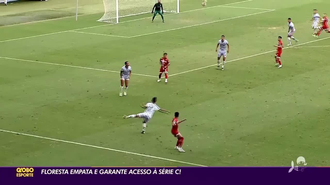 Histórico! Floresta empata e garante acesso à Série C do Campeonato Brasileiro