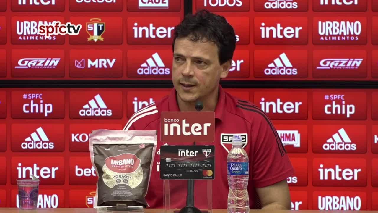 Veja a coletiva de Fernando Diniz, do São Paulo, após a derrota para o Internacional