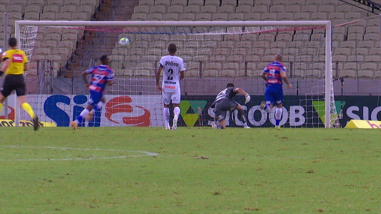 Os gols de Fortaleza 2 x 0 Santos pela 31ª rodada do Brasileirão
