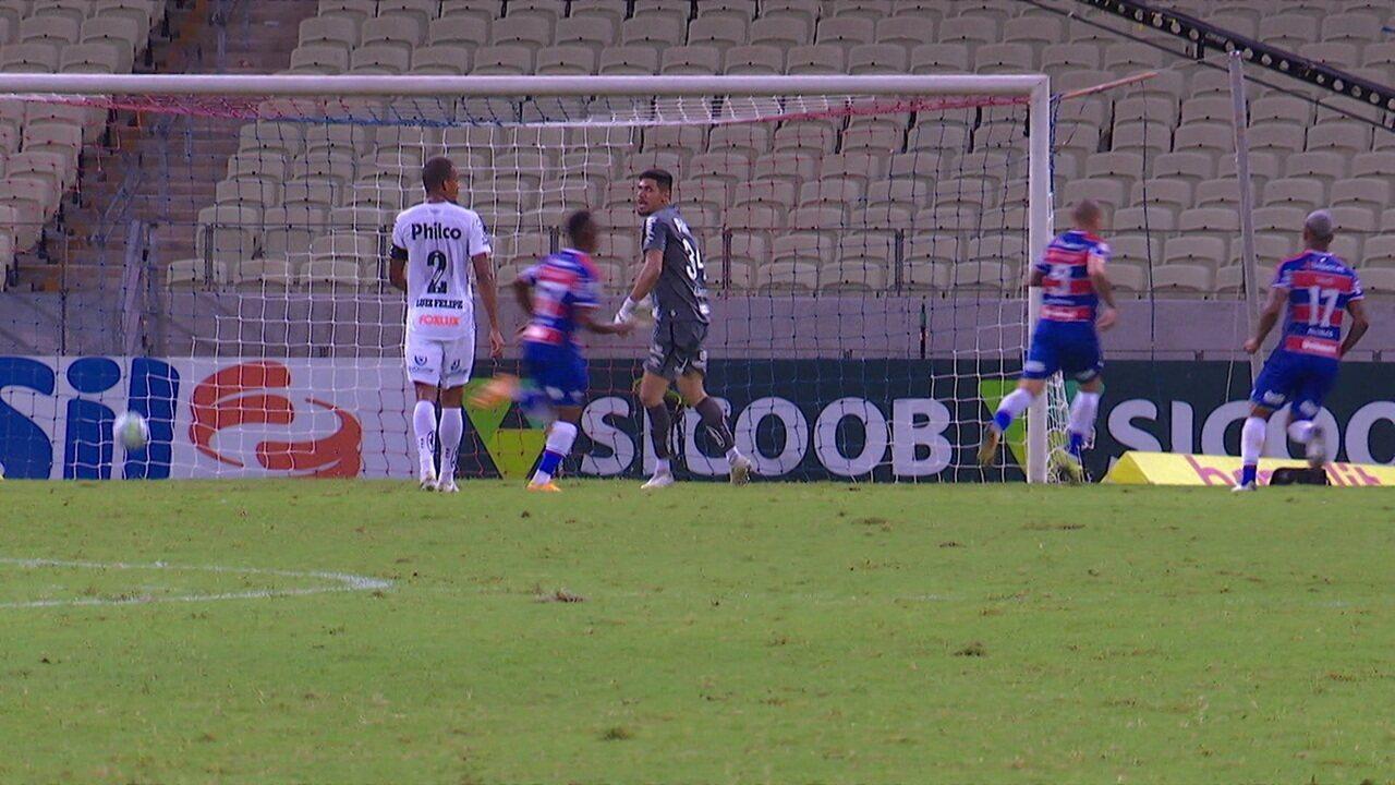 Melhores momentos: Fortaleza 2 x 0 Santos pela 31ª rodada do Brasileirão