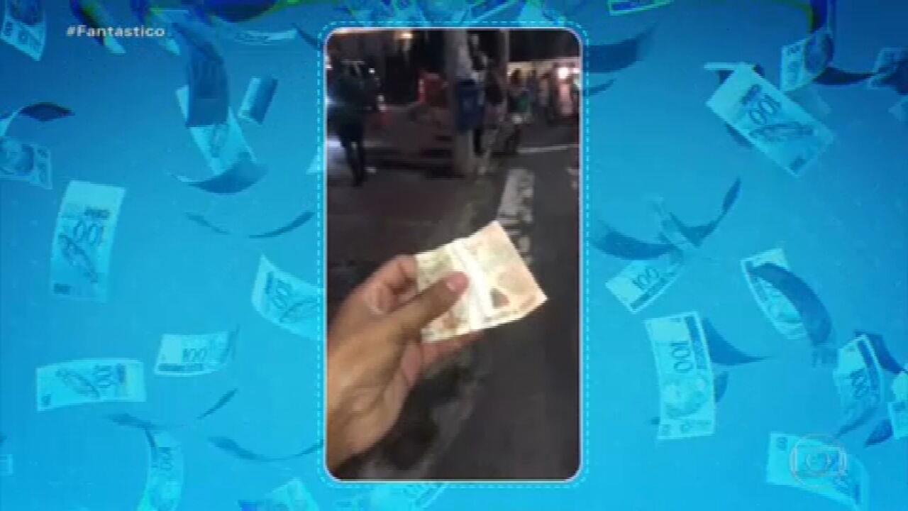 Cena de ciúmes seria o motivo de 'chuva de dinheiro' no céu de Salvador