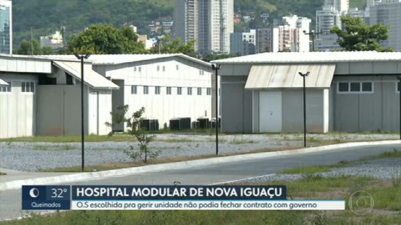 Organização social que vai administrar Hospital Modular de Nova Iguaçu estava proibida de fechar contratos com Governo do RJ