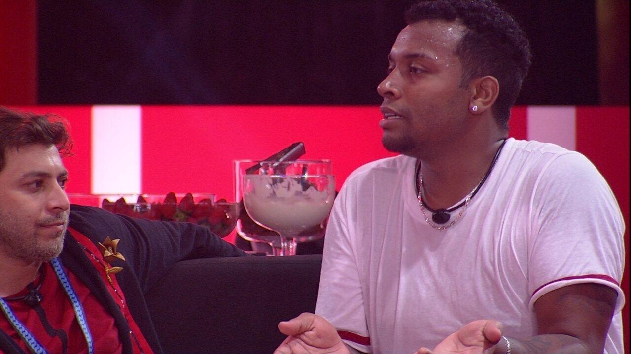 Nego Di fala sobre avaliação de brothers no BBB21: 'Eu sei que eu não sou uma cobra'