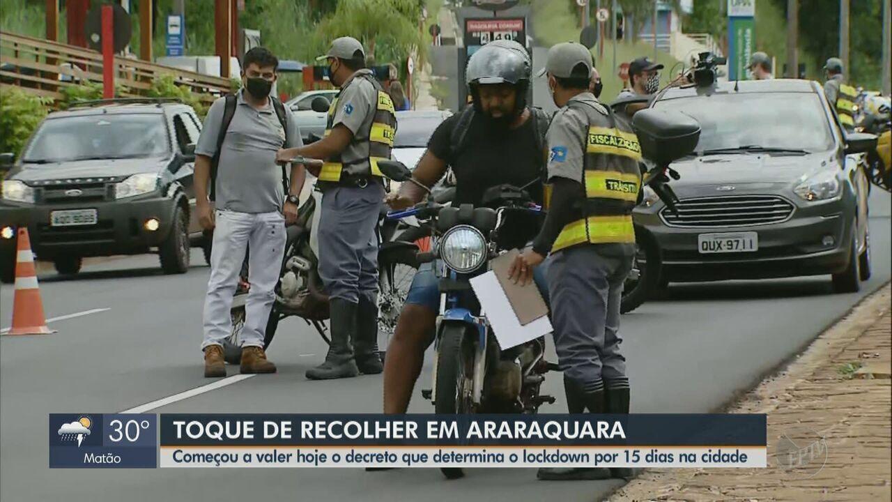 Araraquara tem blitzes para coibir circulação de pessoas no 1º dia de medidas restritivas