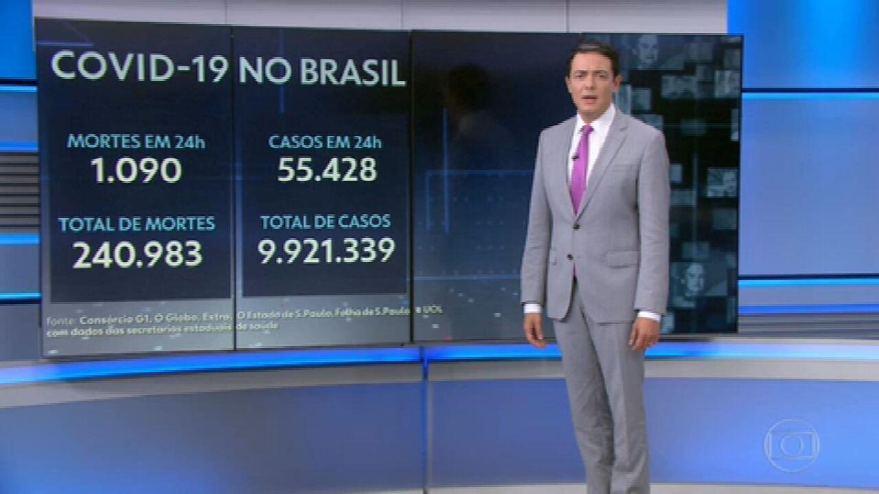 Brasil ultrapassa a marca de 240 mil mortos pela Covid