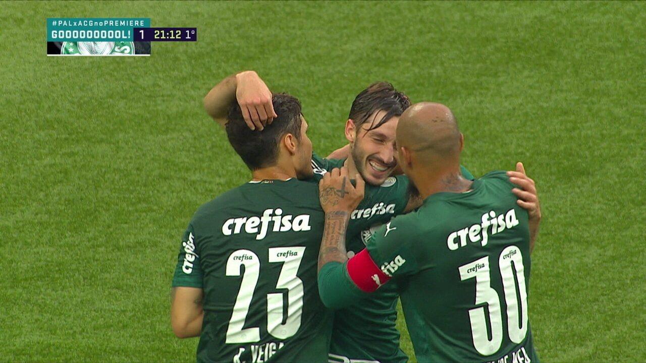 Lembre gol de Viña pelo Palmeiras
