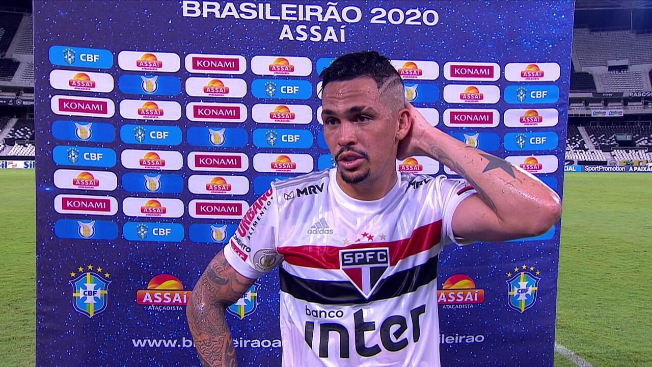 Luciano lamenta a derrota do São Paulo para o Botafogo e o pênalti perdido