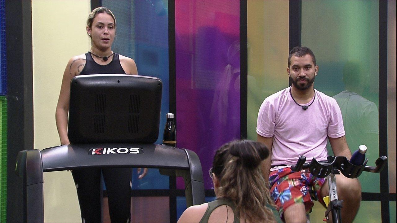 Gilberto diz para sisters no BBB21: 'Projota vai para o Monstro de todo o jeito'