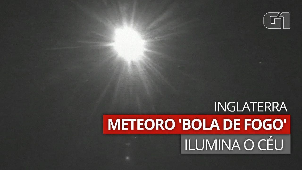 VÍDEO: Meteoro 'bola de fogo' ilumina o céu noturno na Inglaterra